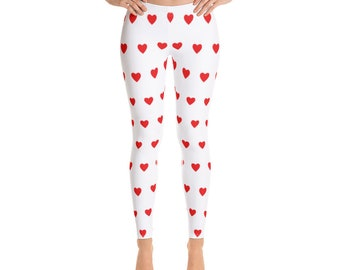 9fca376986269 Heart Leggings - Cute Valentine Leggings for Women - FREE SHIPPING -  Valentines Day Clothes - Valentines Day Clothing for Women Girls Kids
