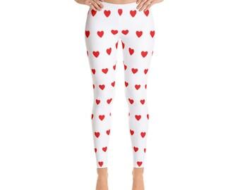 9b3e45af77bb5 Heart Leggings - Cute Valentine Leggings for Women - FREE SHIPPING -  Valentines Day Clothes - Valentines Day Clothing for Women Girls Kids