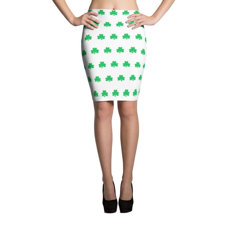 5285994489 St Patricks Day Skirt - Shamrock Pencil Skirt - Irish Skirts - FREE  SHIPPING - St Patricks Day Outfit for Women