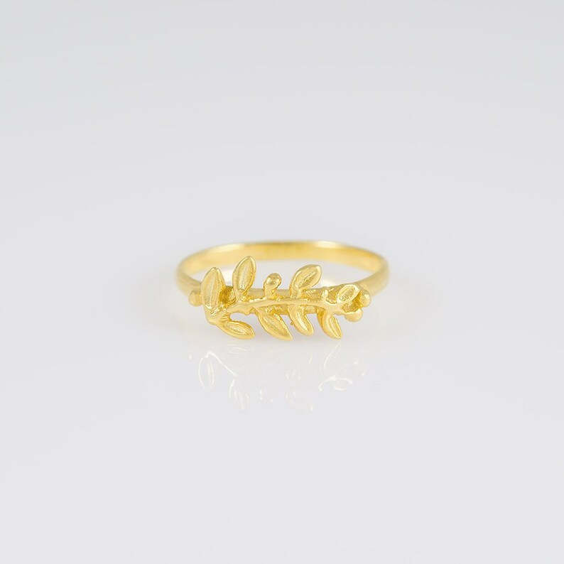 olive leaves ring 14k gold olive wreath ring leaf ring olive leaf ring greek ring kotinos ring