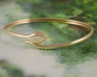 Snake bracelet,14K Gold ,inspired by the ancient Greek history, snake goddess, Minoan Civilization,gift for her, handmade cuff