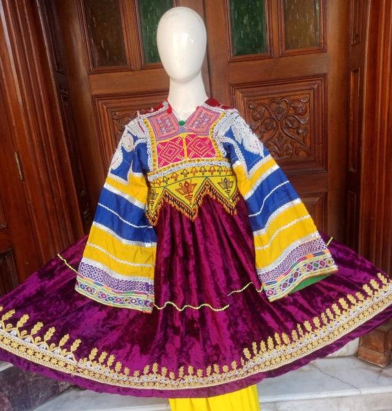 Afghan Vintage Traditional Ethnic Pashtun dress