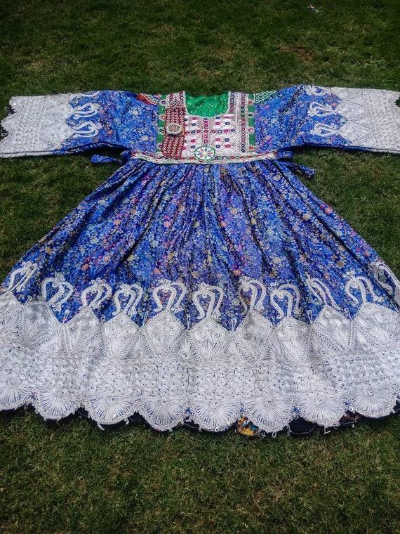 Afghan vintage ethnic traditional pashtun dress