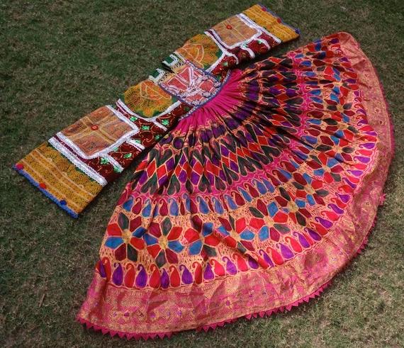 Afghan Vintage Kuchi Pashtun Banjara Attan dress