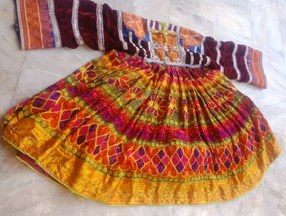 FREE SHIPPING Afghan vintage ethnic pashtun dress