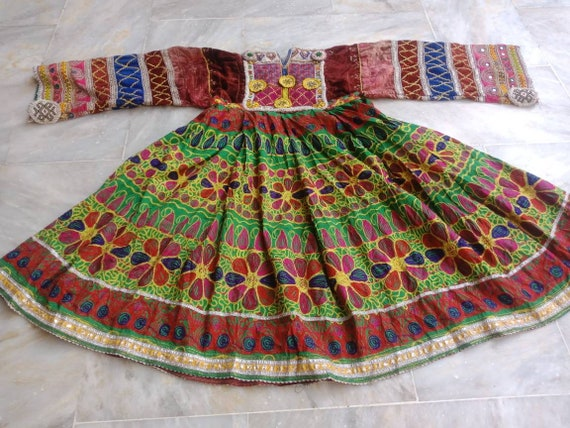 FREE SHIPPING Afghan Vintage Kuchi Pashtun Dress