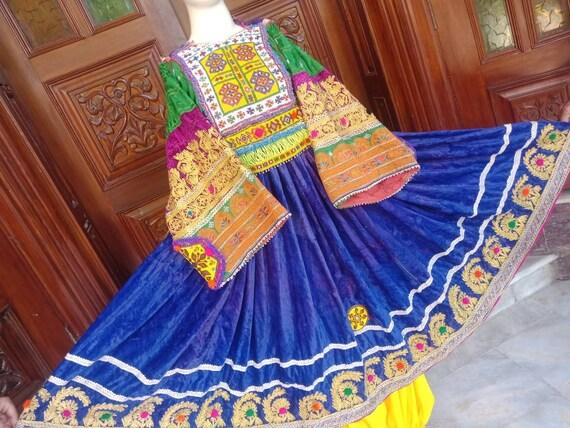 Vintage Afghan kuchi ethnic pashtun tribal dress