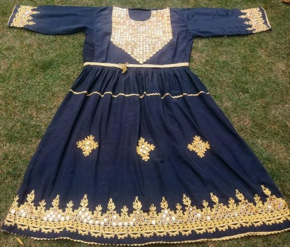 Afghan Vintage Kuchi Pashtun Ethnic Banjara Dress