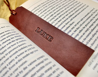 Leather Bookmark | Free Personalization | Bookmark for Women | Bookmark for Men | 3rd Anniversary Gift | Book Lover Gift | Leather Accessory
