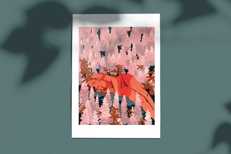 Pink Field / A4 print 20x30 cm image 0