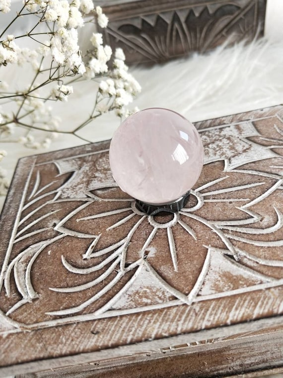 Rose Quartz sphere/ Loving vibration/ Meditation/ Natural Rose Quartz/ Premium Grade, Crystals