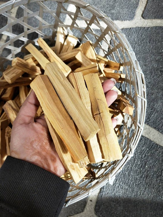 5 pcs Holy Palo Santo- Aromatic Holy Wood,  Incense, smudge, Holy stick, Aromatherapy, alter tool, Ritual