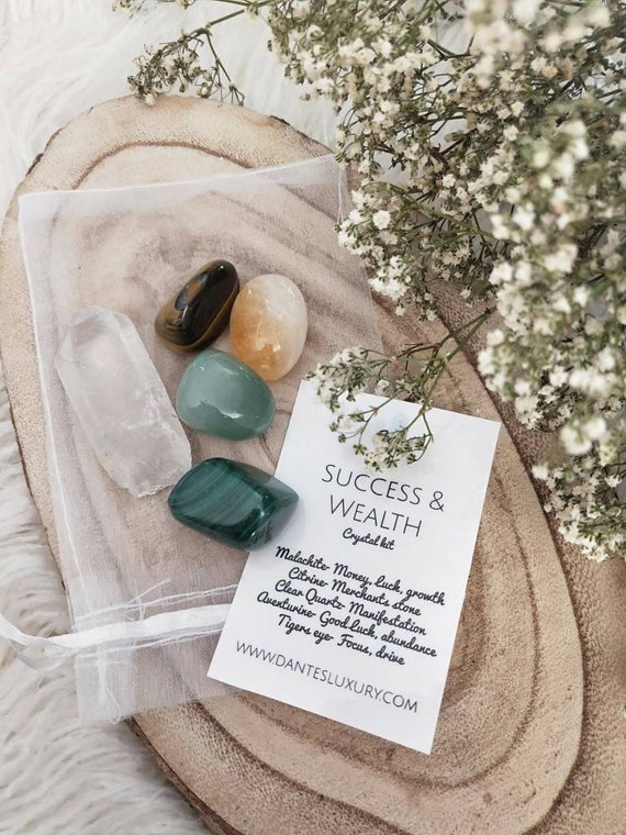 Success and Wealth crystal kit-  abundance, motivation, creativity, guidance and more