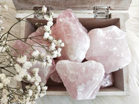 3 lucious Fist Size Raw Rose Quartz / Loving vibration/ Meditation, Rose Quartz Raw/ Natural Rose Fist Size Quartz/ Premium Grade, Crystals