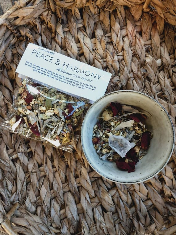 2 bags of Peace & Love - Smudging kit, Aromatherapy, Cleansing tool, Spiritual Cleansing, Bag of mixed herbs and flowers.