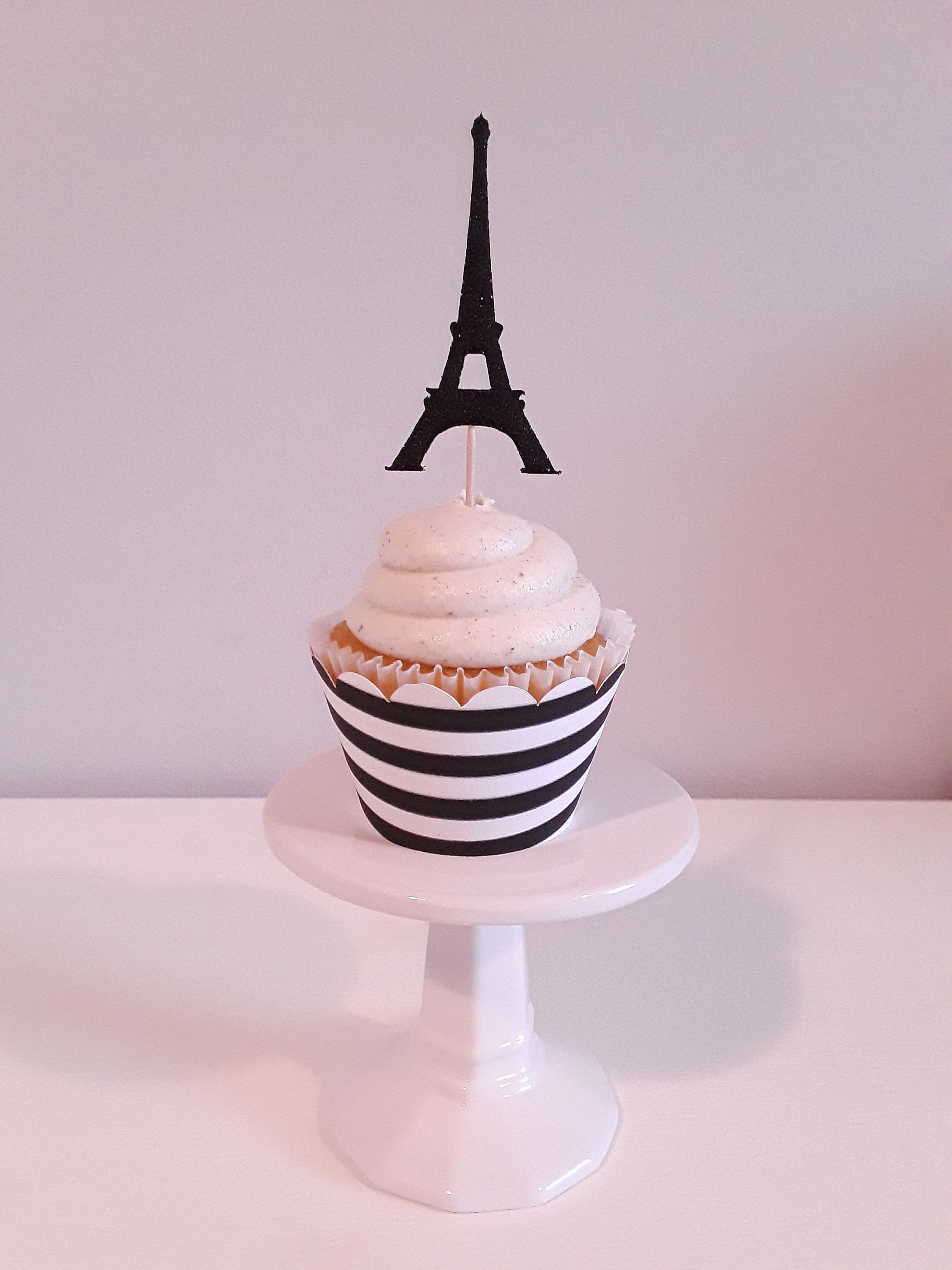 Eiffel Tower Cupcake Toppers Etsy