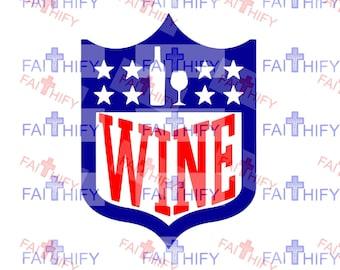 a0fb477fd Wine Shield Superbowl SVG
