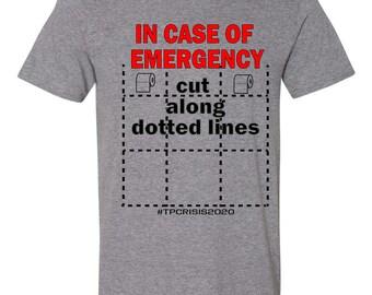 Great Toilet Paper Crisis Funny Coronavirus Pandemic T-Shirt For Men Women Adults