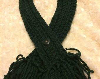 Dark Green Collar Scarf