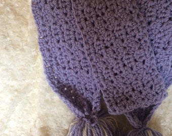 Light Purple Crocheted Scarf
