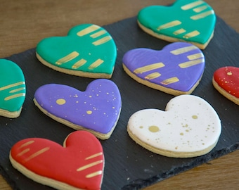 """PURE HEARTS Collection Cookies. 12, 4"""" cookies."""
