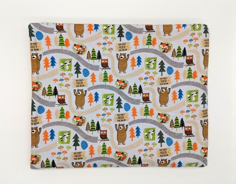 Forest Woodland Creatures Flannel & Fleece Blanket - Great outdoors themed  gift for nature lovers!