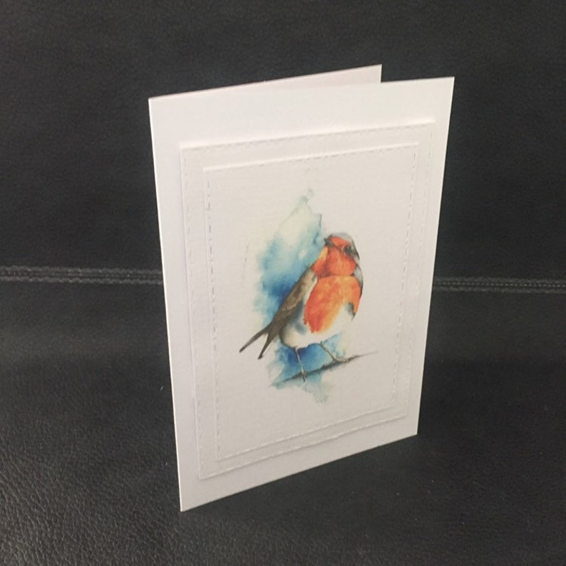 memorial card remembrance gift Robins appear when loved ones are near card robin card remembrance card greetings card