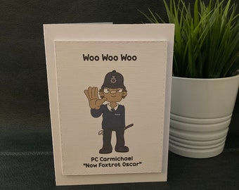 Personalised police card, police force, police training, police graduation, new police officer, police retirement, policeman promotion