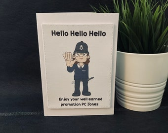 Personalised police card, police, promotion, new job, hello, police officer, retirement card, well done, good luck, greeting card, nee nah