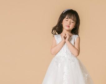 caceb466e2d Fille robe Vintage enfants Swing Casual robe sans manches bleu