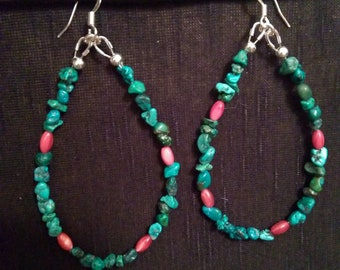 Turquoise and Mother of Pearl Earrings