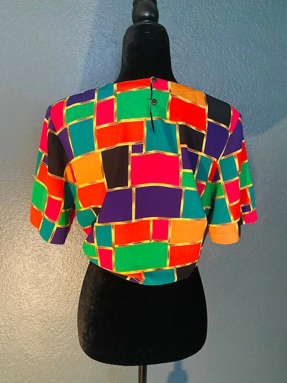 Rainbow Block Blouse - image 4