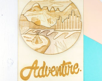 Adventure 3D Wooden Wall Art