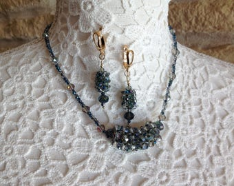 Night Necklace and Earrings