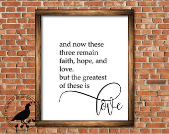 Faith Hope Love svg, And Now These Three Remain svg, Christian svg, Modern Farmhouse, FixerUpper, Magnolia, Joanna Gaines, sign stencil, dxf