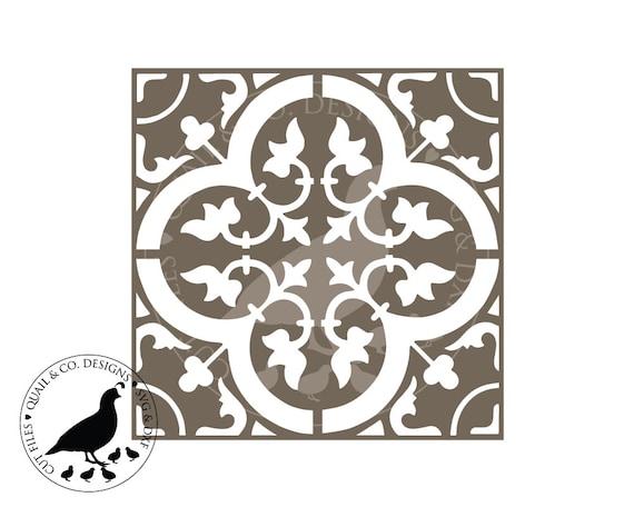 Digital Tile Stencil Svg Moroccan Tile Svg Floor Tile Svg Etsy