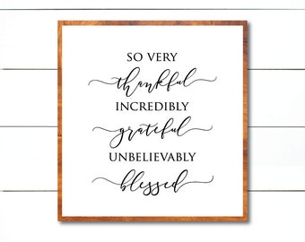 So Very Thankful svg, Thankful Gratefull Blessed svg, Christian svg, Modern Farmhouse, FixerUpper, Magnolia Market, Joanna Gaines, cut file