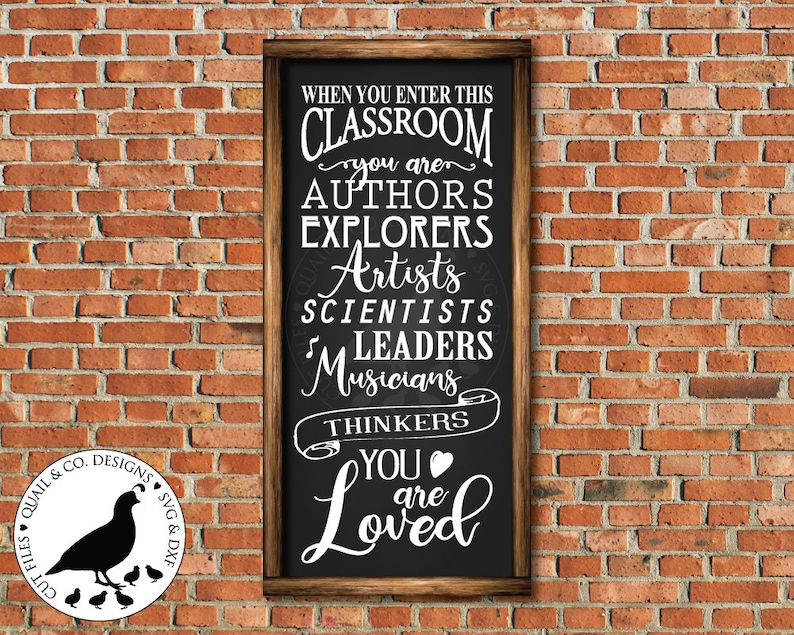 When You Enter This Classroom Svg Classroom Sign Svg Etsy