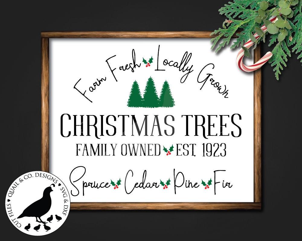 Farm Fresh Christmas Trees svg Tree Farm svg Christmas svg   Etsy