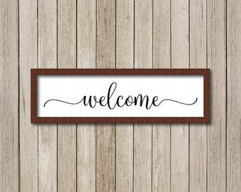 Welcome svg, Welcome Sign Cut File, Welcome printable, Modern Farmhouse, Fixer Upper svg, Magnolia Farms svg, Joanna Gaines svg,  wood sign