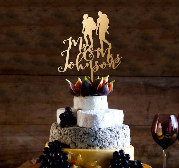 Christmas Wedding Cake Toppers.Wedding Cake Topper Mr And Mrs Cake Topper Custom Climbing Cake Topper Christmas Cake Topper Last Name Topper Custom Climbing Cake Topper