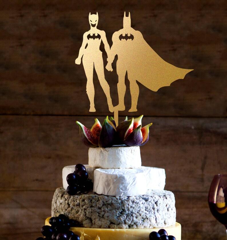 Batman Wedding Cake.Batman Wedding Cake Topper Batman And Batgirl Silhouette Cake Topper Customized Wedding Cake Topper Personalized Cake Topper For Wedding