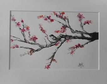 Like a bird on branch