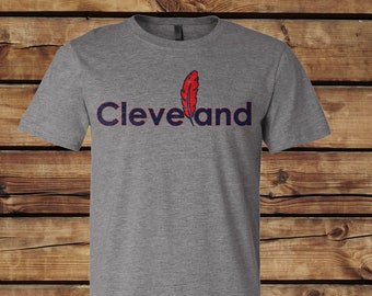 Cleveland Tribe with Feather Tee