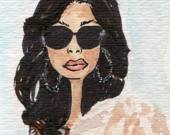 Cookie Lyon Bookmark/ Hand painted Bookmark/ Inspired by Cookie Lyon Booklover/Fashionista Bookmark