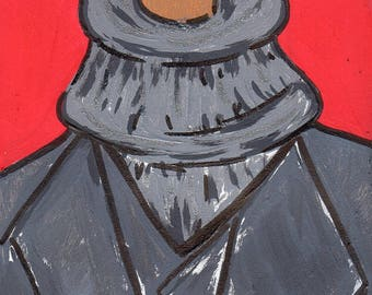 Gentlemen Bookmark/Guys Bookmark/ Guys Hand painted Bookmark/Laminated Bookmark/ Inspired by Black Men Bookmark