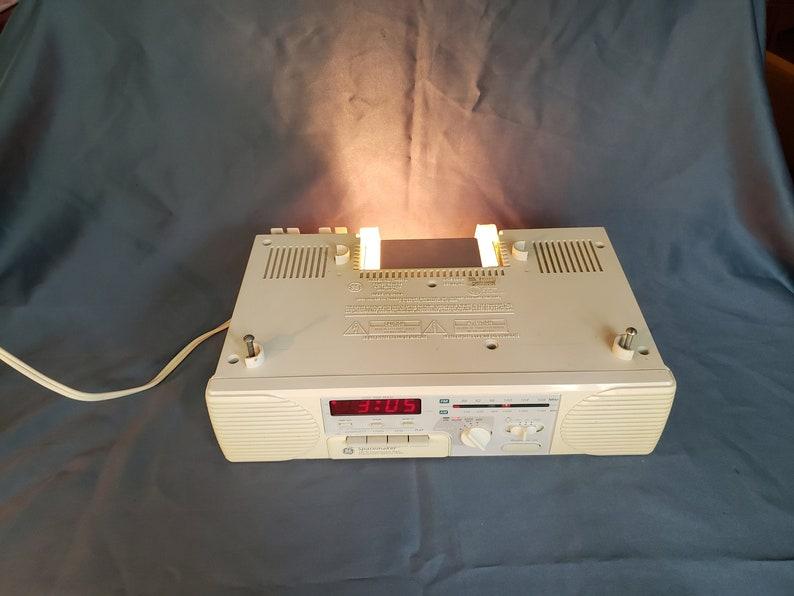 Ge Spacemaker Am Fm Radio Clock Light Music Cassette Player Etsy