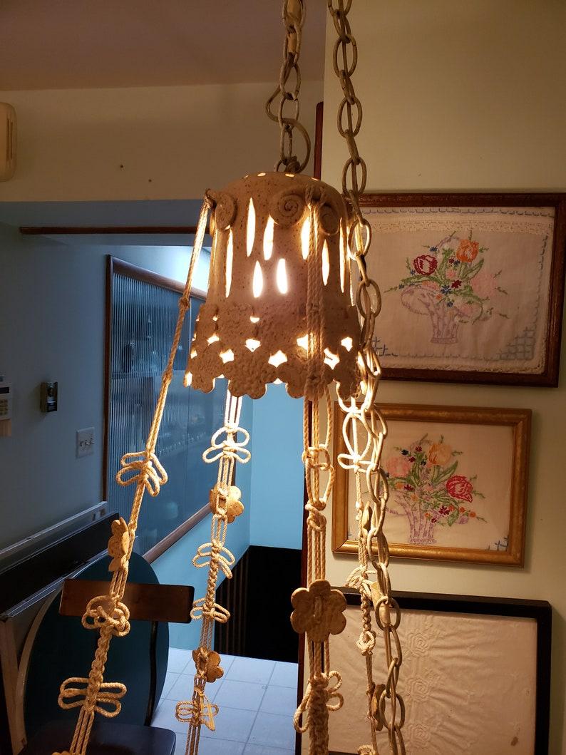 macrame hanging lamp wall tapestry bedroom living room