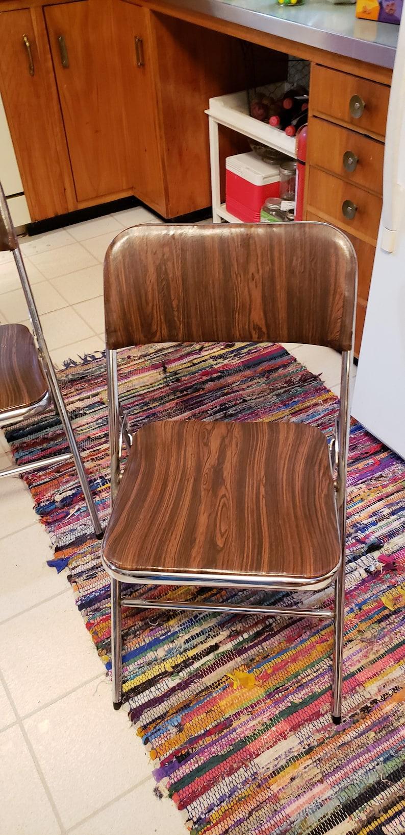 Incredible 2 Samsonite Padded Folding Chairs And Backs Vintage Metal Retro Mid Century Made Usa Cjindustries Chair Design For Home Cjindustriesco