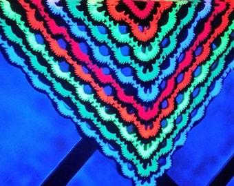 UV neon psychedelic blanket